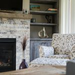 Fireplace and Wood Shelves