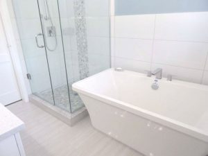 Free Standing Tub and Custom Shower