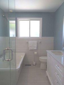 "Custom Shower, Free Standing Tub, 72"" Vanity with Quartz Top"